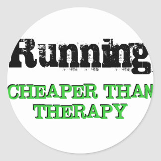 Cheaper Than Therapy Round Sticker