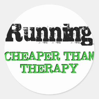 Cheaper Than Therapy Round Sticker