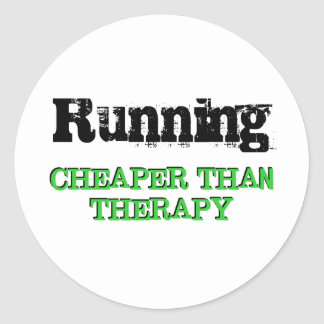 Cheaper Than Therapy Round Stickers