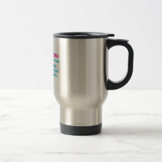 CHEAPER THAN THERAPY STAINLESS STEEL TRAVEL MUG