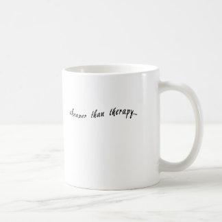 Cheaper Than Therapy Tshirts, Mugs, Buttons Basic White Mug