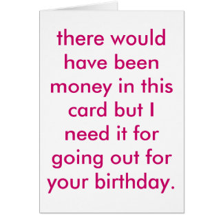cheapskate birthday. card