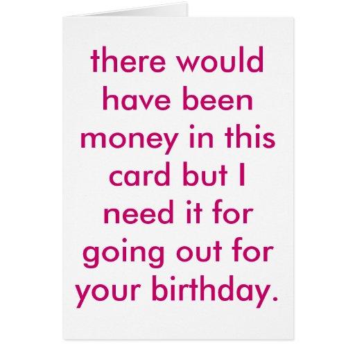 cheapskate birthday. card