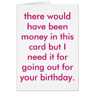 cheapskate birthday. greeting card