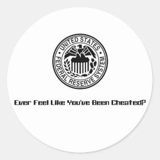 Cheated1 Round Sticker