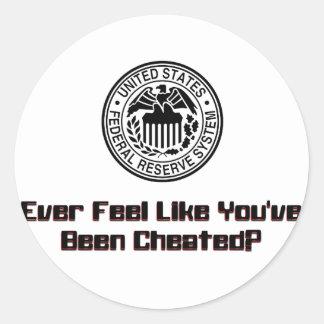 Cheated2 Round Sticker