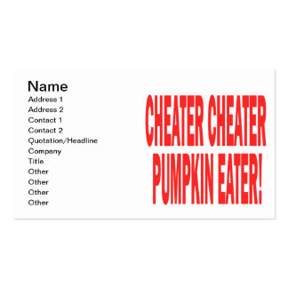 Cheater Cheater Double-Sided Standard Business Cards (Pack Of 100)