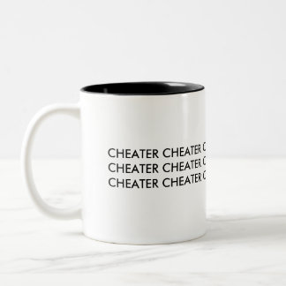 CHEATER Two-Tone COFFEE MUG