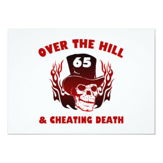 Cheating Death 65th Birthday Card