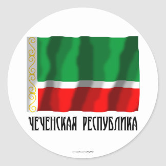 Chechen Republic Flag Classic Round Sticker