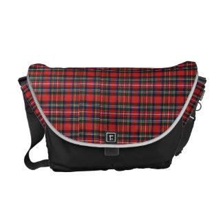 Check Denim Courier Bag