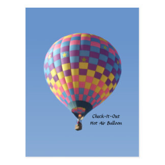 Check-It-Out Hot Air Balloon Postcard