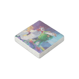 Check it Twice Santa Stone Magnet