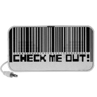 Check Me Out Barcode Doodle Laptop Speaker