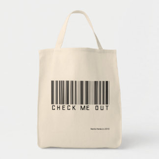 Check Me Out Grocery Tote Bag