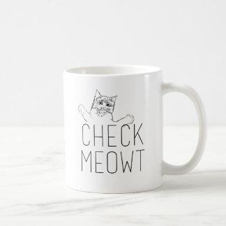CHECK MEOWT - Cat Humor Coffee Mug