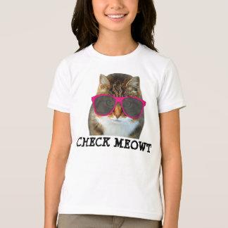 Check Meowt Cat T-shirt for Girls