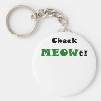 Check Meowt Key Chain