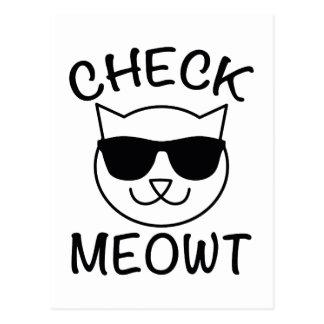Check Meowt! Postcard