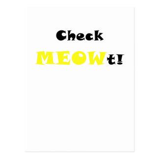 Check Meowt Postcard