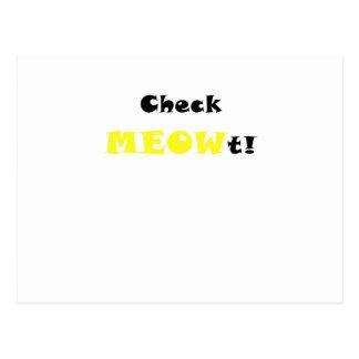 Check Meowt Post Card