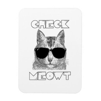 Check Meowt Vinyl Magnet