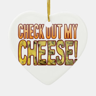 Check Out Blue Cheese Ceramic Heart Decoration