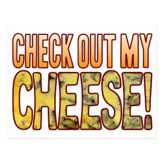 Check Out Blue Cheese Postcard