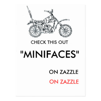 CHECK OUT MOTORCYCLE POSTCARD