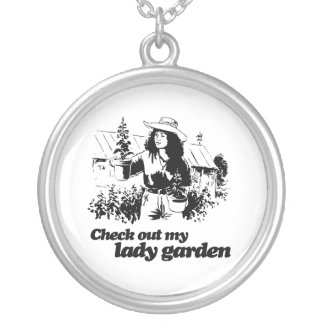 CHECK OUT MY LADY GARDEN - png Custom Necklace