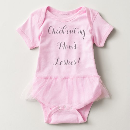 Check out my mum's lashes baby bodysuit