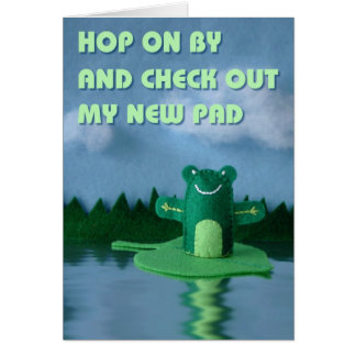 Check Out My New Pad Greeting Card