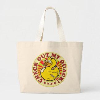 Check Out My Quack Jumbo Tote Bag
