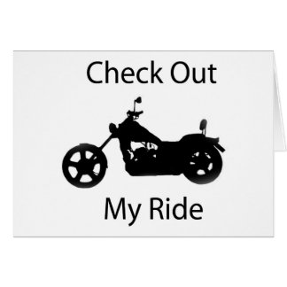 Check out my ride greeting card