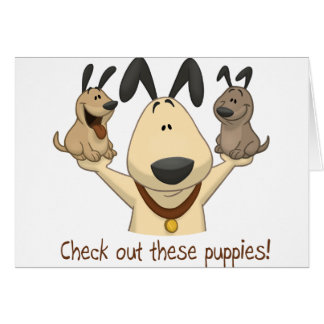 Check Out These Puppies Greeting Card