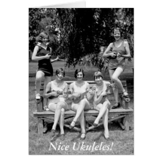 Check Out Those Ukuleles! - 1920s Card