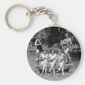 Check Out Those Ukuleles! - 1920s Key Ring