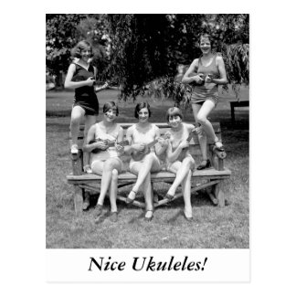 Check Out Those Ukuleles - 1920s Post Card