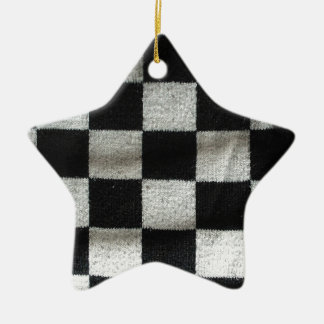 check pattern (knitting) christmas ornament
