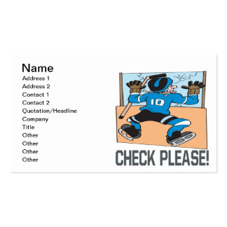 Check Please Pack Of Standard Business Cards