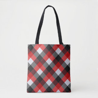 Check Red Buffalo Plaid Tote Bag