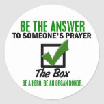 Check The Box Be An Organ Donor 3 Round Stickers