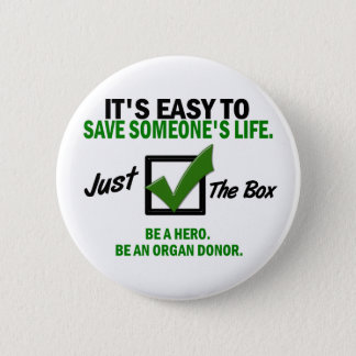 Check The Box Be An Organ Donor 5 6 Cm Round Badge