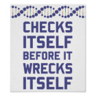 Check Yourself Before You Wreck Your DNA Genetics Poster