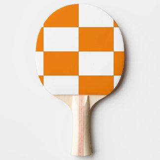 Checkard Orange & White Design Ping Pong Paddle