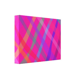 Checked Pattern Pink Canvas Print