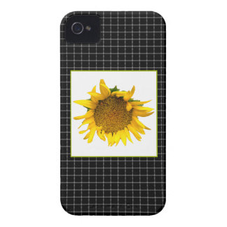 Checked Sunflower case iPhone 4 Case