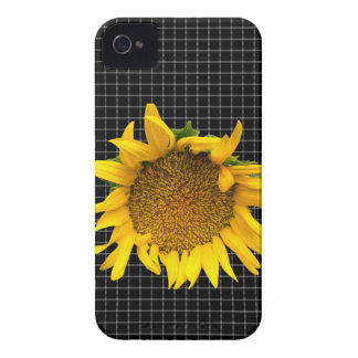 Checked Sunflower case iPhone 4 Case-Mate Cases