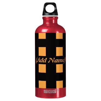 Checker and Floral Personalized SIGG Traveller 0.6L Water Bottle
