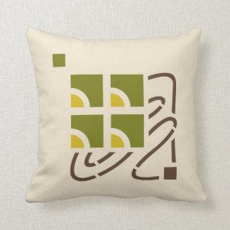 Checker Berry Stencil #2 Throw Pillow
